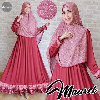 Gamis Maurel Maroon, Gamis trendy, Baju Gamis Murah tapi bagus, Fashion Muslimah Modern