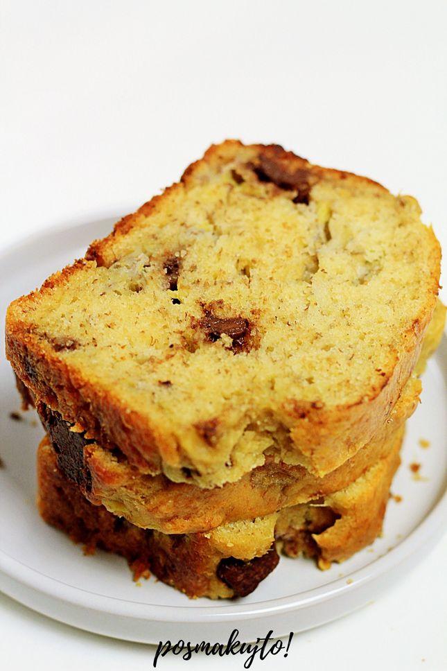 Chlebek bananowy z czekoladą (bez cukru)