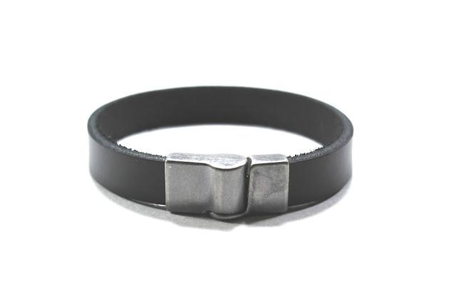 pulseira de couro masculina