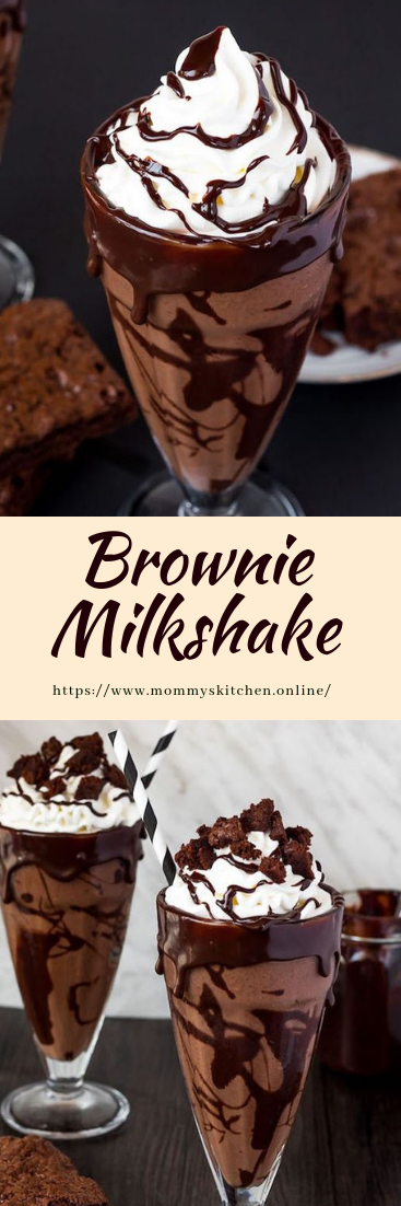Brownie Milkshake #recipe #dirink
