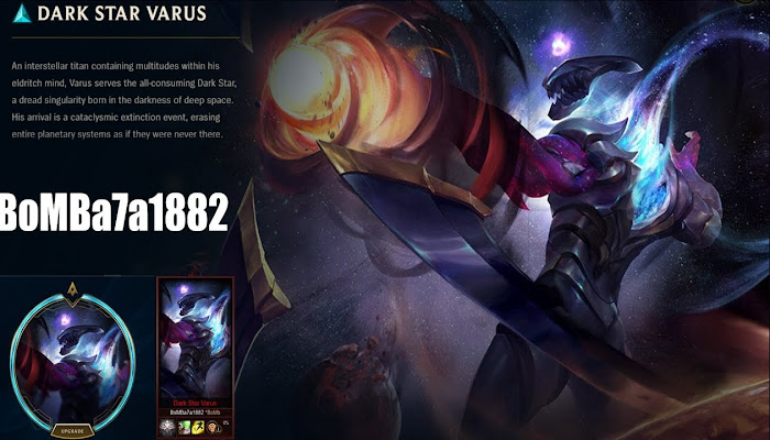 BoMBa7a1882 *BoMb GamePlay with Dark Star Varus - League of Legends LoL