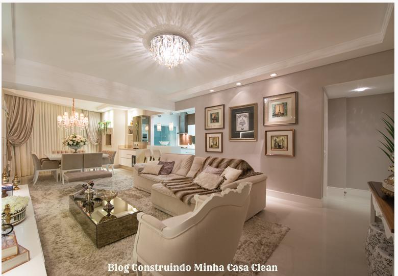 Construindo Minha Casa Clean Salas com Cores Neutras