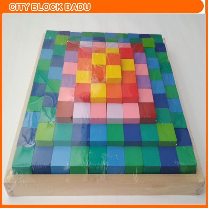 City Block Dadu Mainan Kubus Warna f19982a08c
