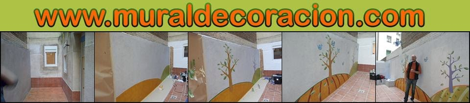 Decoración mural en patio de luces en madrid
