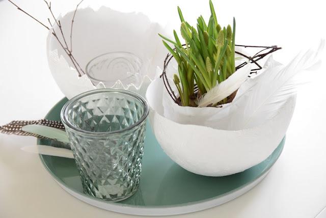 house no 43 oster diy gipseier easter diy plaster egg. Black Bedroom Furniture Sets. Home Design Ideas