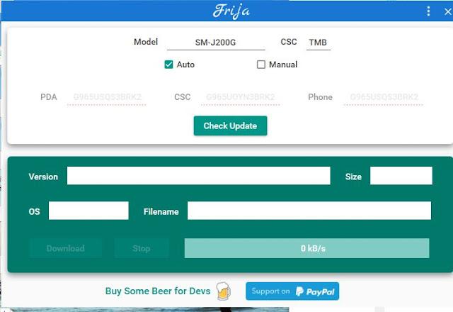 Frija Samsung Firmware Downloader & Checker Tool Free