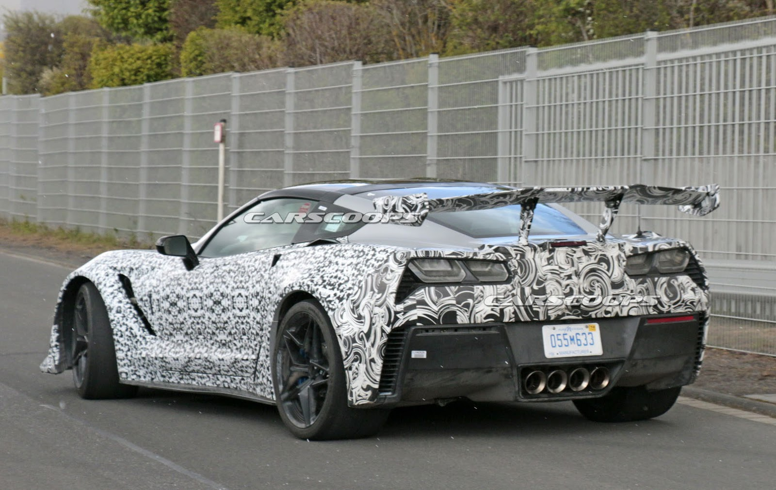 First Close Look On The 2018 Corvette ZR1's Active Aero Kit? | Carscoops