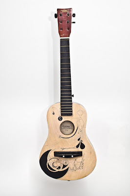 Matthew Reid - art - guitar - wateraid- hand painted guitar - acoustic