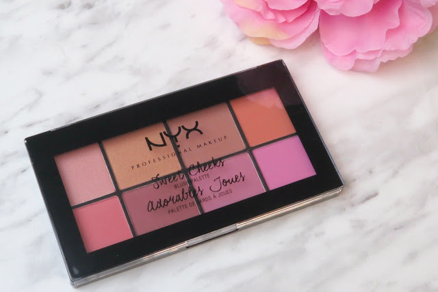 NYX Sweet Cheeks Blush Palette Review Swatches