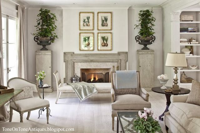 botanicals over fireplace antiques gustavian style living room gorgeous