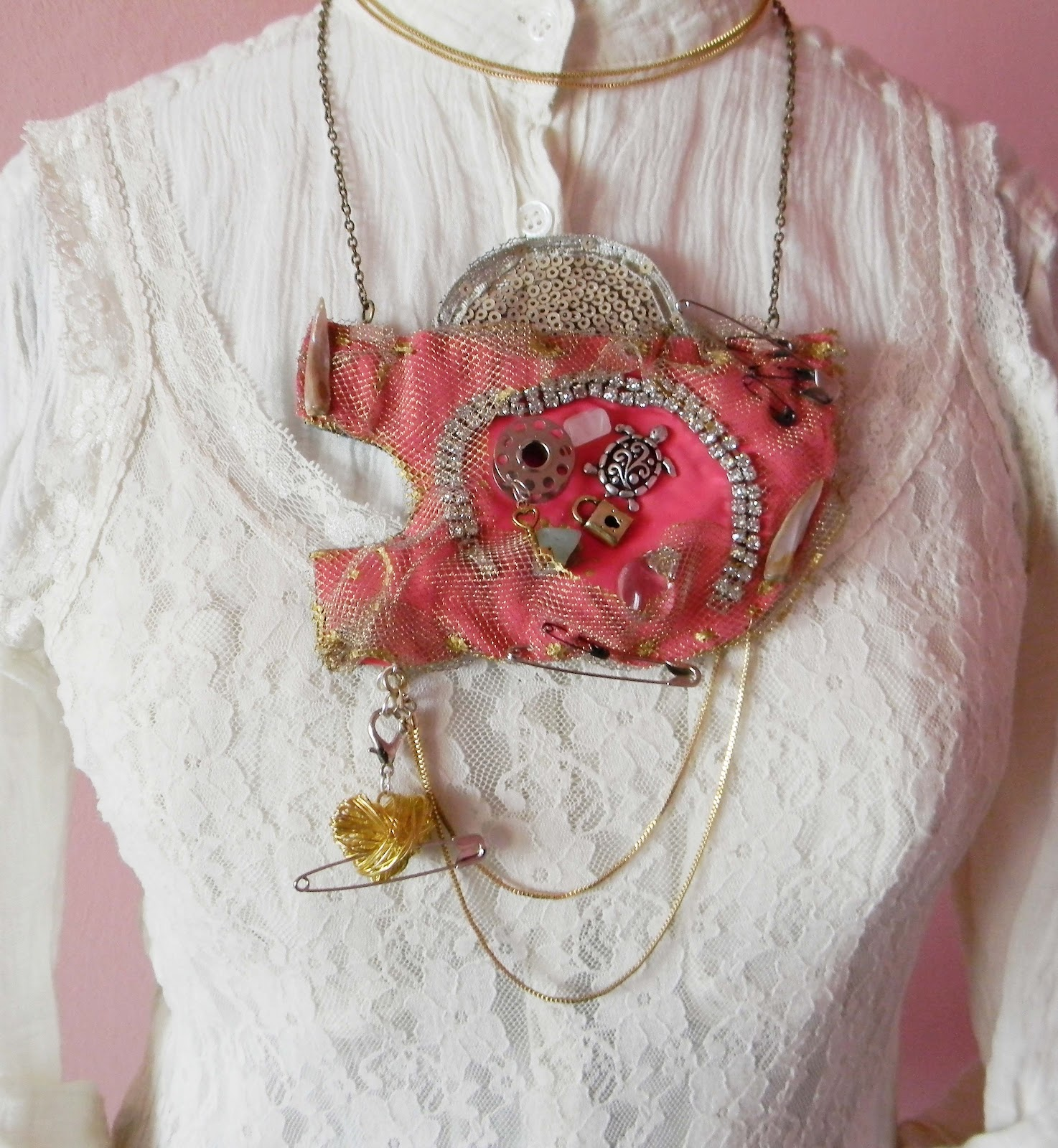 """Ludic"" Statement Necklace/Steampunk Bib"