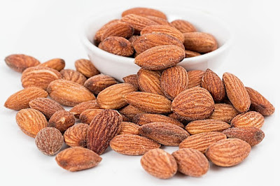 Pile of Whole Salted Almonds