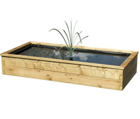 Rectangular Wooden Aquatic Planter with Liner 1.8m x 0.9m x 0.45m