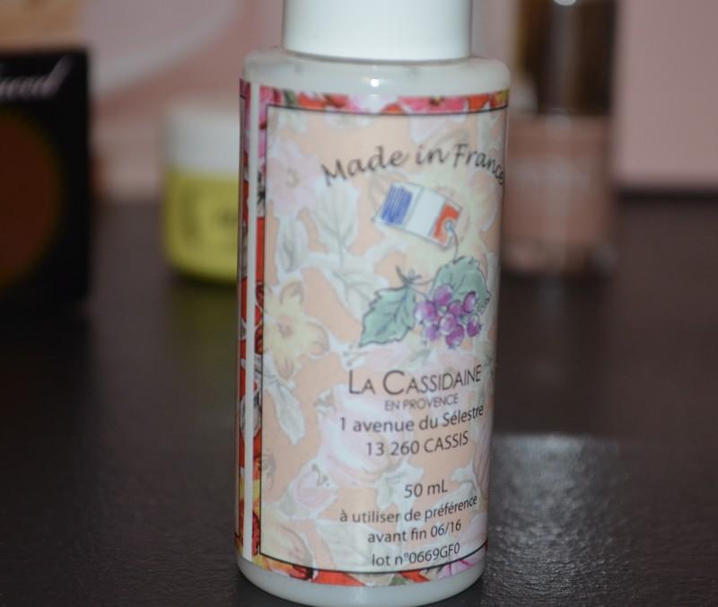 La Cassidaine en Provence , Gel Douche Caramel Lacté , glossybox octobre 2015