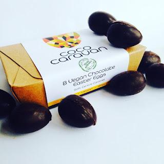 coco caravan raw vegan caramel easter eggs