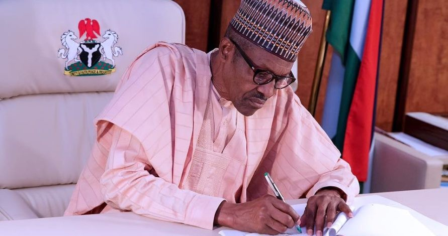 President Buhari signs new appointment of Ministers.