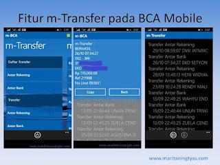 Fitur m-Transfer BCA Mobile Mudah, Cepat dan Tercatat Rapi