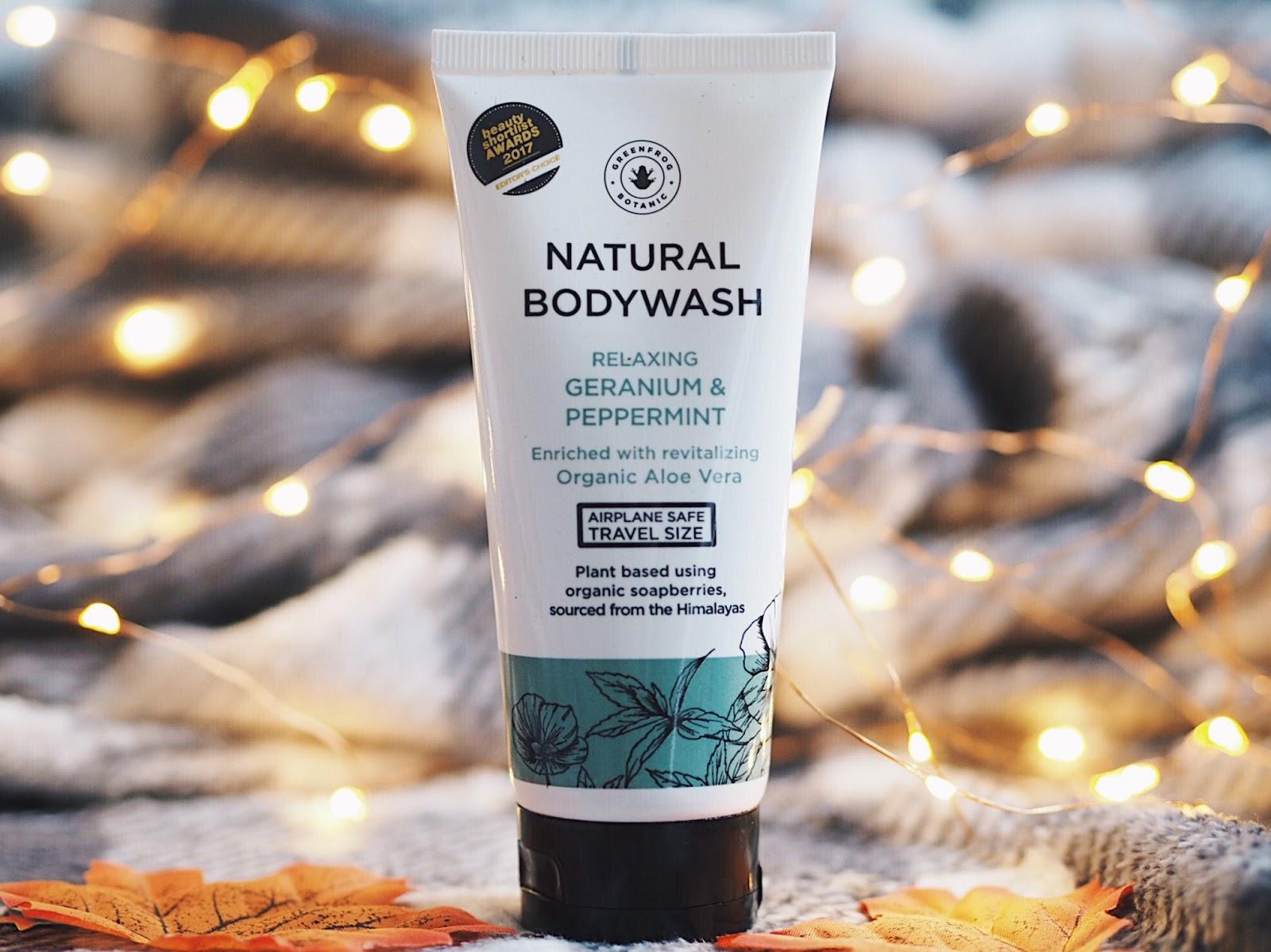 Greenfrog Botanic Natural Bodywash Relaxing Geranium & Peppermint