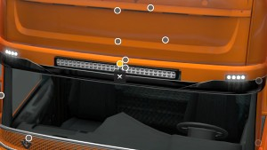 CG Streamline Sunshield with led bar