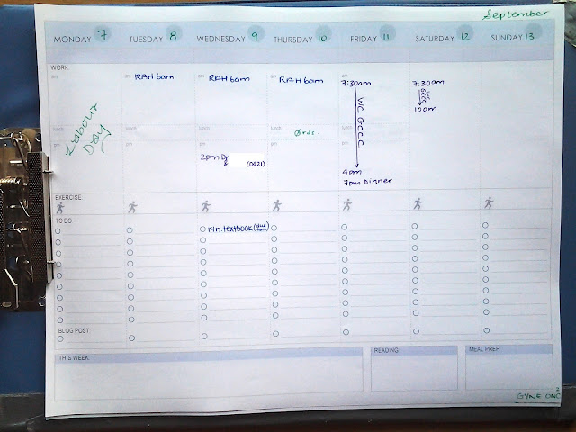 clipboard weekly planner