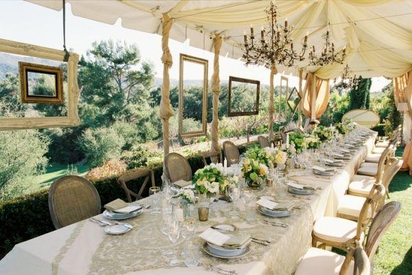como decorar el salón de una boda