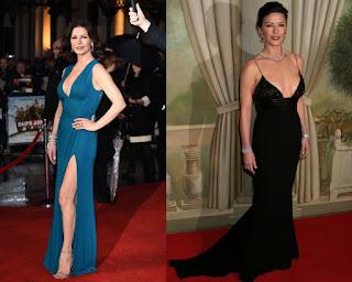 gespalten lang blau schwarz v-Ausschnitt Abendkleid