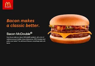 McDonald's Canada Menu Prices April 7 - May 31, 2017