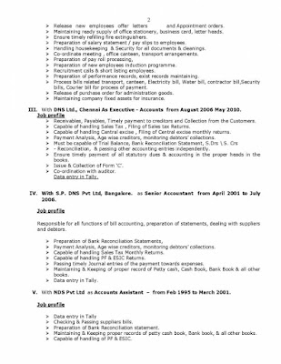 Administration Executive and Senior Accountant Resume 2