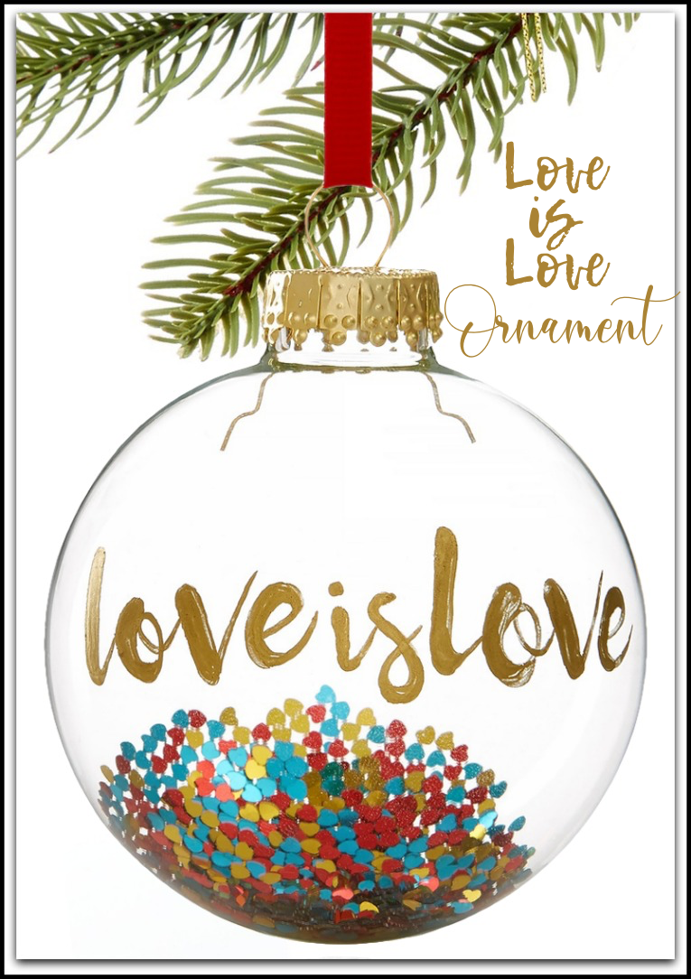 Holiday Lane Our First Love is Love Ornament