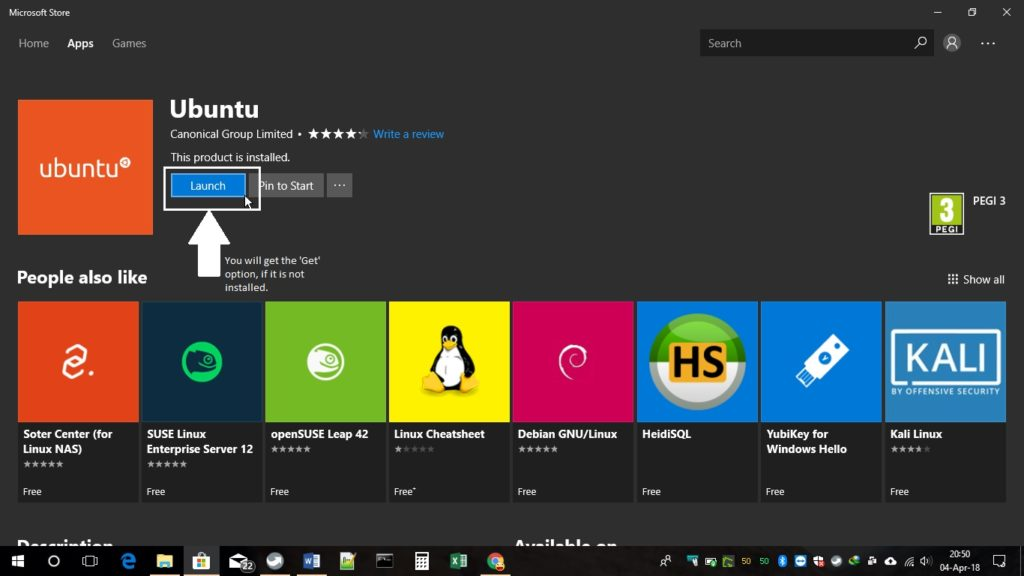Microsoft store for Ubuntu installation