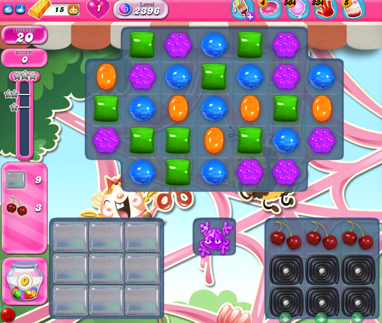 Candy Crush Saga level 2396