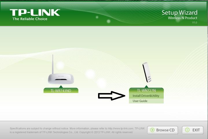Tp link Tl wn727n driver Utility