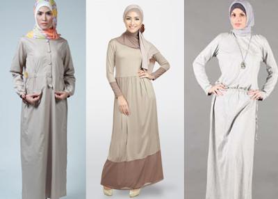 Baju Muslim Katun Polos