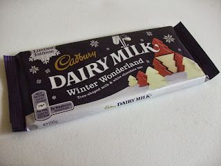 New limited edition white and milk chocolate Dairy Milk bar for Christmas with tree shaped chunks