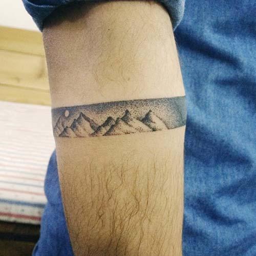 mountain wiev armband tattoo dağ görüntüsü kol bandı dövme