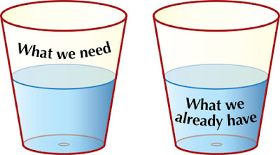 Do you see the glass half empty or half full ..?