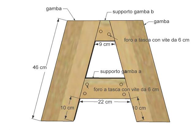 Montaggio gambe panca che diventa tavolo da pic nic