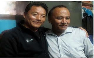 Bimal Gurung with Bhupendra Pradhan (Pradeep Pradhan)