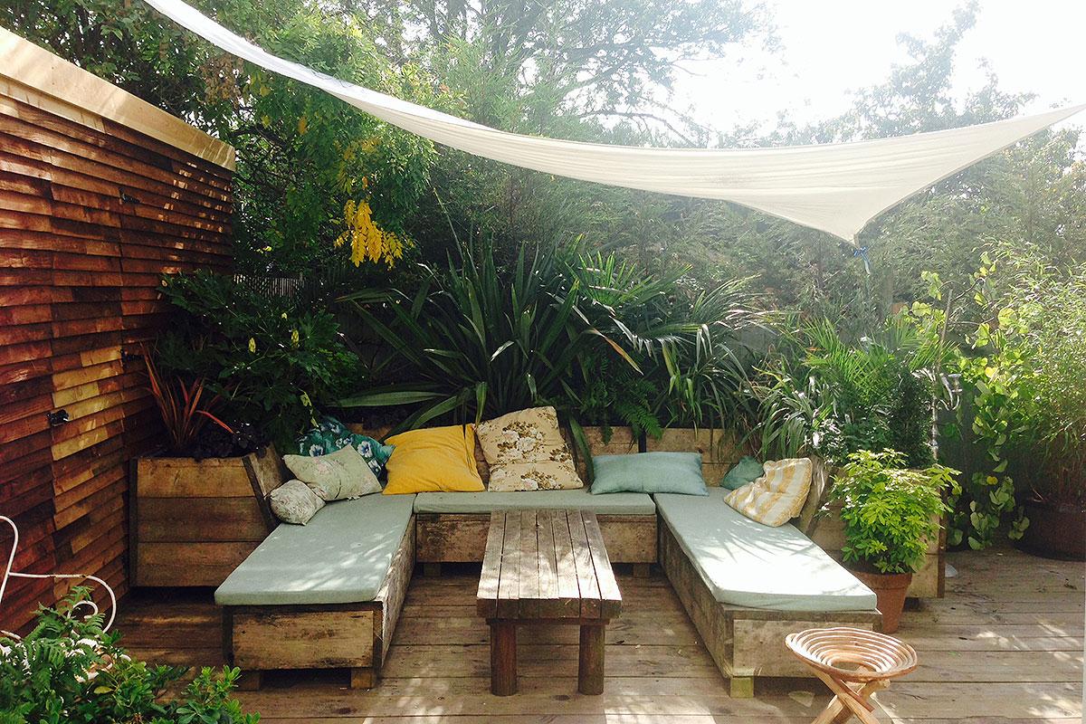 sposoby na balkon, sposoby na ogród, strefa relaksu