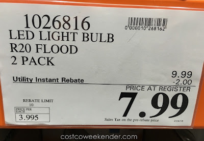 Deal for the Feit Electric R20 Flood 45-watt LED Light Bulb at Costco
