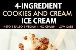 4 Ingredient No Churn Cookies Cream Ice Cream Keto Paleo Vegan