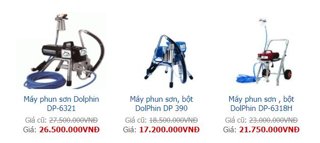 báo giá máy phun sơn công nghiệp dolphin