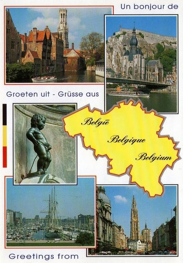 postcard from Belgium