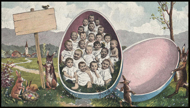 A Collection Of 21 Creepy And Funny Vintage Easter Cards From The