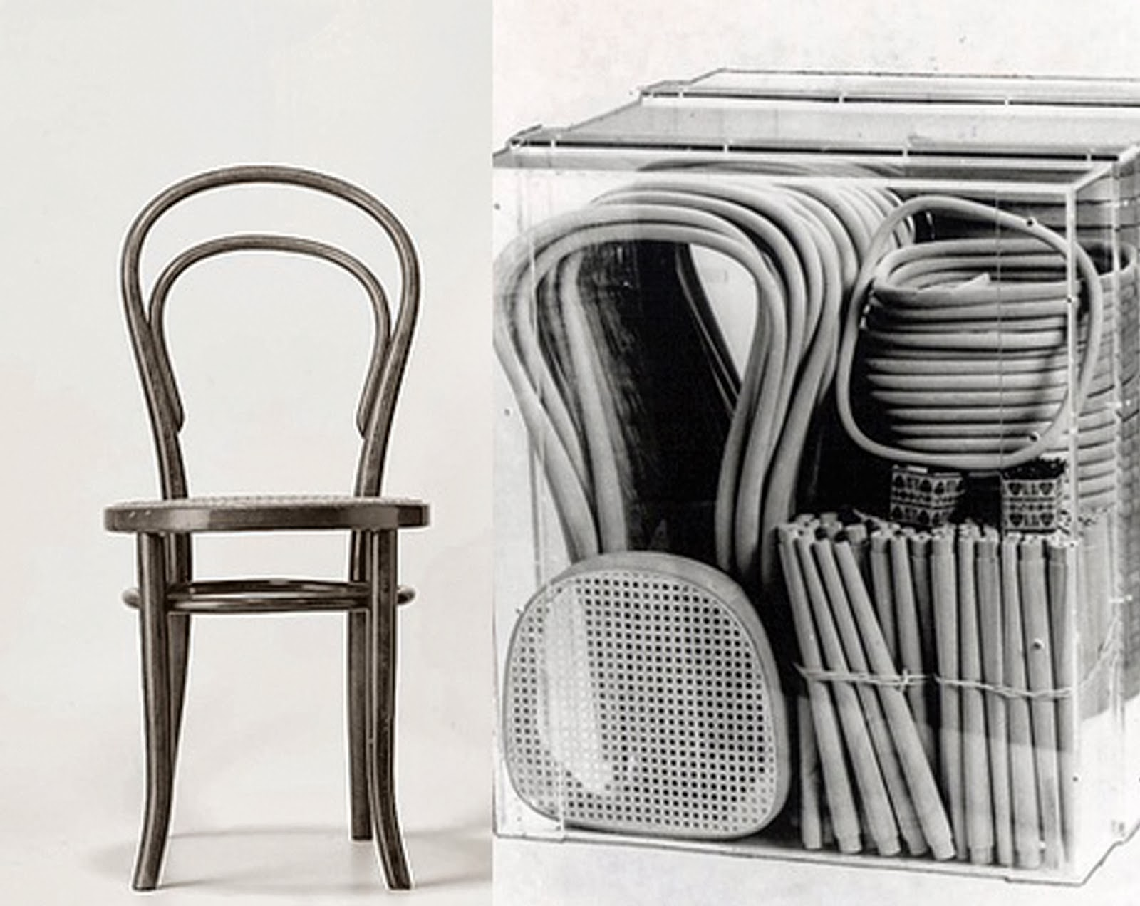 Foto de la silla nº 14 y sus piezas