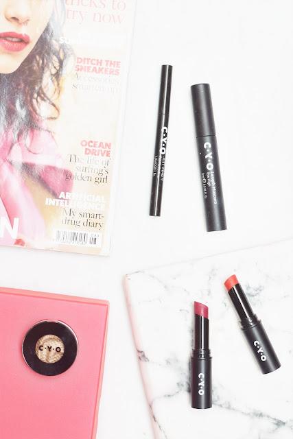 cyo, c.y.o, makeup, first impressions, eyeliner, matte lipstick, shimmer, mascara