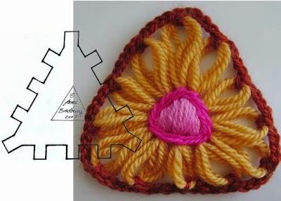 Como hacer una Flor en Telar Triangular