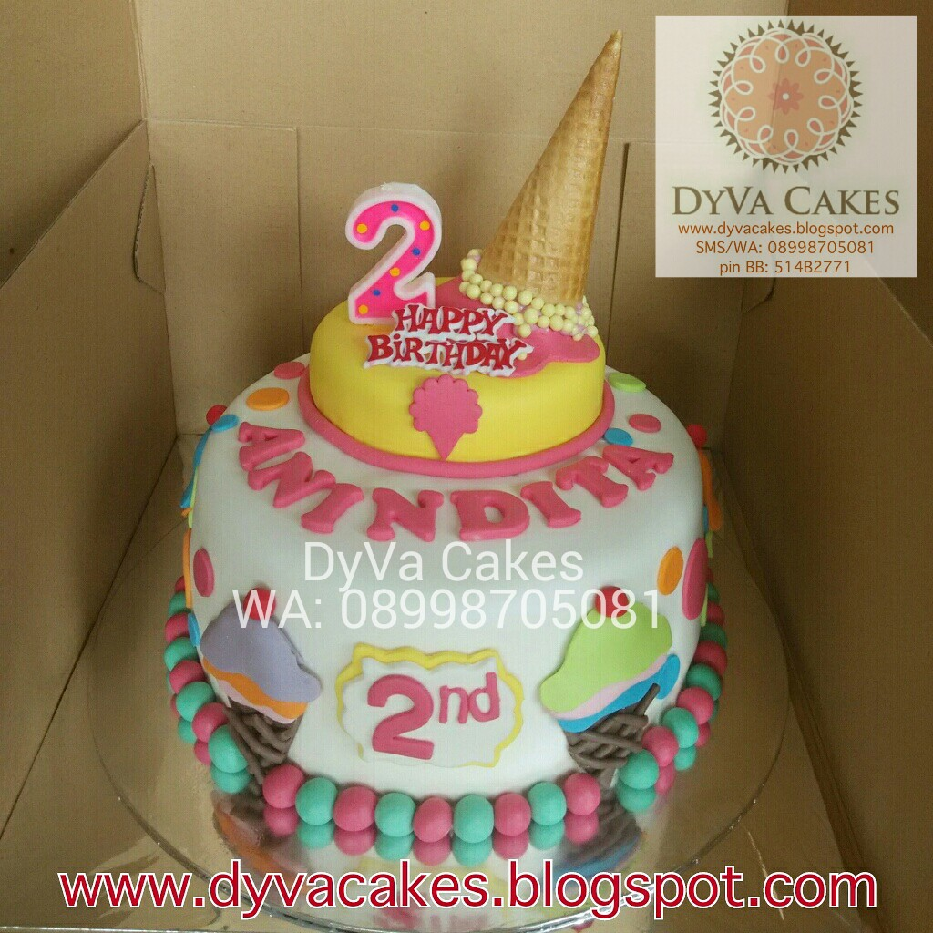 DyVa Cakes Ice cream Birthday Cake