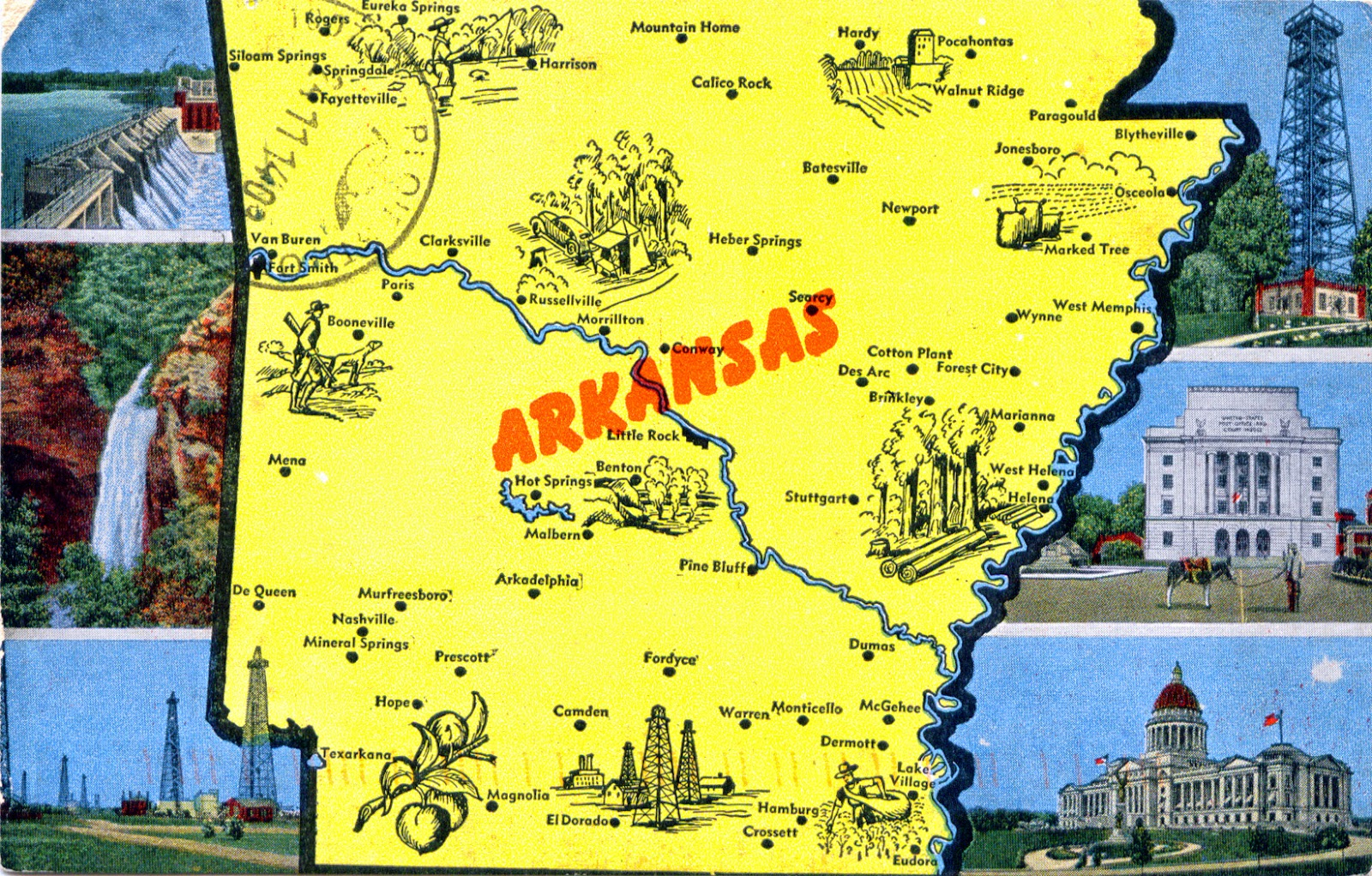 WORLD COME TO MY HOME UNITED STATES Arkansas - Native american tribes arkansas map