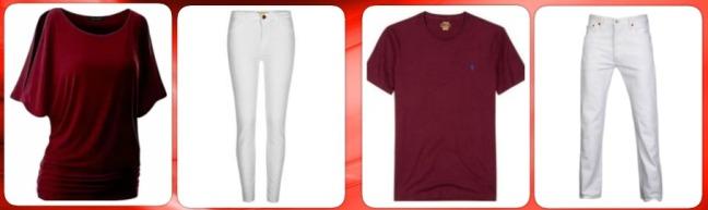 bordo-renk-tisort-altina-ne-renk-pantolon-bayan-erkek